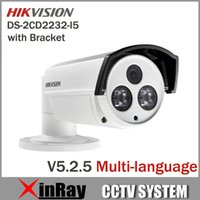 Wholesale Newest Hikvision V5 DS CD2232 I5 MP Bullet IP Camera with Bracket IR LED Full HD P POE Power Network IP CCTV Camera