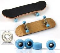 Wholesale set Professional Maple Wood Finger Skateboard Nickel Alloy Stents Bearing Wheel Fingerboard Adult Novelty Item Child Toy