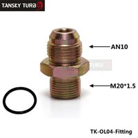 Wholesale TANSKY AN10 M20 OIL FUEL LINE HOSE END UNION FITTING ADAPTOR Oil sandwich adapter fitting TK OL04 Fitting