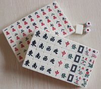 Wholesale M004 mm Mini Mahjong Mah jong Mah jongg Mah jong Games Carved Tile in case with Melamine tiles