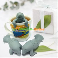 Wholesale Silicone Manatee Diffuser Infuser Loose Tea Leaf Strainer Herbal Spice Filter