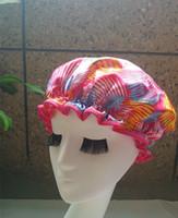 barbers supplies - Deal New New Hawaii Satin waterproof shower cap shower parts barber salon supplies EVA hat hair satin bonnets