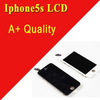 Wholesale iPhone5S LCD Display With Digitizer Touch Screen Assembly High Quality In Black and White A Screen Replacement