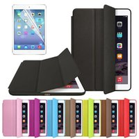 Wholesale Original Official Slim Leather Magnetic Smart Cases Cover For iPad Mini and For ipad air air Free Screen Film