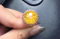Cheap Fire color radiance piezoelectric Citrine 925 sterling silver inlaid Nvjie XL00149