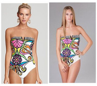Wholesale print one piece swimsuit new floral sexy swimwear backless plus size bathing suit high waist one piece monokini for women S41294
