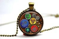 avatars photos - 10PCS Avatar Last Airbender Elements Steampunk Pendant Necklace Glass Photo cabochon necklace
