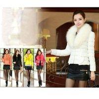 Cheap Winter Womens Warm Fur Collar Down Jacket Fur Collar Puffer Coat Parka Overcoat