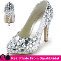 arabic shoes - 2016 Arabic Luxury Wedding Bridal Dance Dress Shoes For Women Evening Prom Party Crystal Rhinestone Heeled Fashion Pumps Sexy