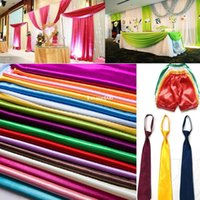 Wholesale Pure Color Butyl Satin Wedding Decoration Cloth Performance Clothing Fabrics Clothing Lining cm Wide Colors