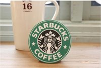 Wholesale Starbucks Coffee Coaster Style Table Decoration Silicone cup coffee mug mat pad black red green