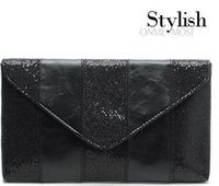 Wholesale Lady Evening Bags PU Women Messenger Bag Joint Clutch Bag Sequin Totes
