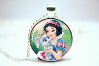 berry necklace - 10pcs Snow White and Berry Necklace Glass Photo Cabochon Necklace