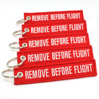 Wholesale 10pcs Red Black Blue Remove Before Flight Key Chain Aviation Truck Motorcycle Pilot Crew Tag Boat keychain