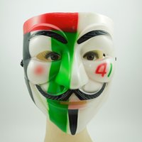 army face camouflage - Camouflage V Mask film Vendetta Mask Army Anonymous Guy Fawkes Horror Full Face Halloween Party Mask