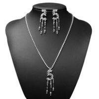 arabic jewellery - Women s Wedding Jewellery Sets Crystal Rhinestone Arabic Numerals Bride Earrings Necklace Quality Retail Party Jewelry