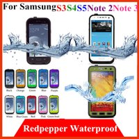 For Samsung Leather For Christmas Redpepper Waterproof Cover red pepper Case For Samsung galaxy S3 S4 S5 note 2 3 N9000 i9500 i9600 Water proof Plastic TPU cell phone cases
