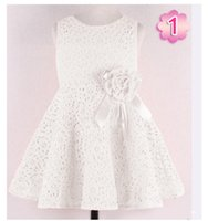 Wholesale Fashion Summer New girls kids Children noble fairy bow princess lace dress high quality