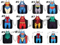 Wholesale Party Funny STAR WARS cosplay cartoon aprons the Avengers funny party apron Costume Character aprons Cooking apron party Apron