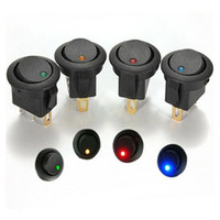 Wholesale Fashion x V LED Dot Light Car Boat Round Rocker ON OFF SPST Switch Colors Feitong
