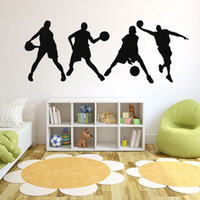 basketball stickers - Brand New Four Basketball Game Sport Players Medium Size Basketball Wall Art Decor Sticker Excellent Quality