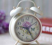 bell furnishings - sinolink New Double bell Alarm Luminous Clock Personalized Decoration Clock Creative Furnishings European Style White