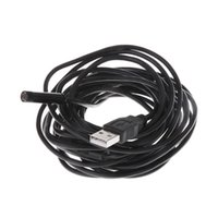 Wholesale 7mm M Cable Waterproof IP66 USB Borescope Endoscope Flexible Snake Inspection Video Camera with Camera Button LED
