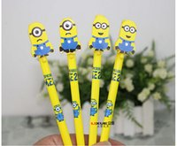 Plastic award plastics - Novelty Cartoon Writing Pen Despicable Me Sign Gel Pen Needle Bling Roller Pen Minion Creative Stationery Children s Toy Study Award