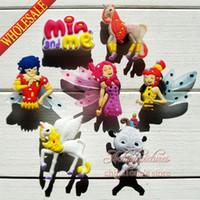 Wholesale Min Order Mia Me PVC Shoe Charms Buckle Fit for Shoes Bracelets Charm Decoration Shoe Accessories Party Gift