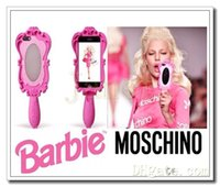Wholesale 2014 Most popular new iphone4 S S inch inch Bobbi mirror silica gel mobile phone protective sleeve
