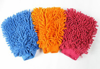 Wholesale Newest Car Hand Soft Cleaning Towel Microfiber Chenille Washing Gloves Coral Fleece Anthozoan Car Sponge Wash Cloth Car Care Cleaning