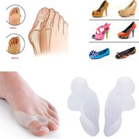 silicone insole foot care - Medical Silicone Gel Feet Care Pad Valgus Hallux Correction Truck Toe Bone Insole