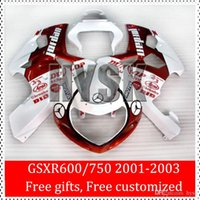 abs blood - ABS Fairing Kits For GSXR GSXR Suzuki K1 GSXR600 GSXR750 GSX R600 GSX R750 Blood Red With White Custom