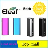 Cheap New Arrival Eleaf iStick iSmoka Max Pwer 20W VV 2200mah high capacity Fit 510 ego OLED Screen battery Box Mod Four colors 002596