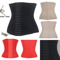 Cheap Full Steel Boned Waist Training Corset Underbust Corpete Bustier Free Shipping 3 Colors Size XS--6XL