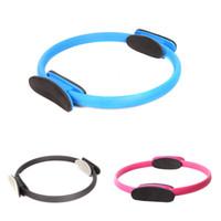 La moda de los 3 Colores de Yoga Círculo de Adelgazamiento Pilates Anillo Mágico Círculo de Fitness para Mujer de la Belleza de la Salud Y0845