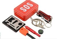 Wholesale Venture Portable Emergency Outdoor Equipment Emergency Survival Kit Box Self help Box SOS Equipment For Camping Hiking