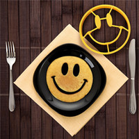 Wholesale hot fashion Breakfast Mold Smile Shaped Pancakes Silicone Egg Mold Smiley Face Cooking Tools
