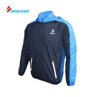 Wholesale ARSUXEO Breathable Running Clothing Long Sleeve Jacke Wind Coat Men s Windproof Waterproof Cycling Bicycle Bike Jersey Clothing
