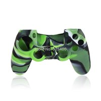Wholesale 50pcs Protective Sleeve Camouflage Color Skin Silicon Gel Rubber Cover for PS4 Controller Silicone Case FAST SHIPPING