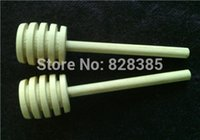 Wholesale 8x2cm Mini Wooden Honey Dippers Spoon Swizzle Stick Mini Wooden Honey Dipper Kitchen Accessory