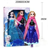 5-7 Years barbies dolls - 2015 newarrivel sale Barbie doll Elsa Anna Big adventure of ice and snow and sisters for a doll CM DROP SHIPPING high quality set