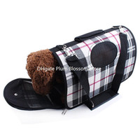 Wholesale Dog Crates Carriers Totes Cheap milky white classic plaid backpack pet cats and dogs pet package with three piece bag shutter