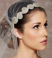 Cheap Fashion Bridal Rhinestone Headband,Crystal Headband,Crystal Beaded Head Piece,Wedding Hair Accessories Wedding belt A4492