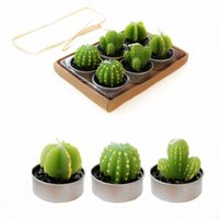 Wholesale Rare Simulation Plant Candle Mini Cactus Candles Home Decor Table Tea Light Garden Decorative Candles Cute Velas Decoration L026