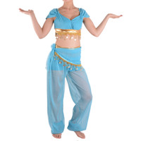 adult jasmine costume - Halloween Christmas Sexy princess jasmine costume adults Aladdin s cosplay halloween costumes for women Belly dance dress waist