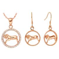 aries jewelry - Fashion Aries Silver Jewelry Sets Hot Sale Brand Dubai Constellation Parure Bijou Ulove T394