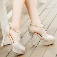 Wholesale Woman sandals new pumps single shoes high heels sandals thin heels sexy female shoes open toe shoe plus size