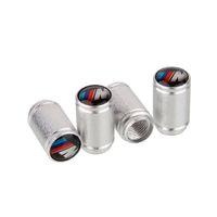 al por mayor ruedas de bmw establecen-Válvulas de neumáticos Mixto Plata universal al por mayor de aluminio de la rueda del coche casquillos del vástago del polvo del aire de la cubierta para el BMW M Power 4pcs / set