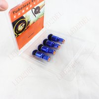 Wholesale Bolt in Car Auto Aluminum Rubber Tire Tubeless Wheel Tire Valve Stem With Dust Cap Blue For Toyota